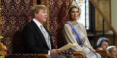 Koning Willem-Alexander en koningin Máxima op Prinsjesdag in 2018.. Foto: ANP / Remko de Waal