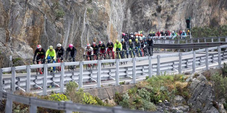 Aardverschuiving hindert Milaan-Sanremo