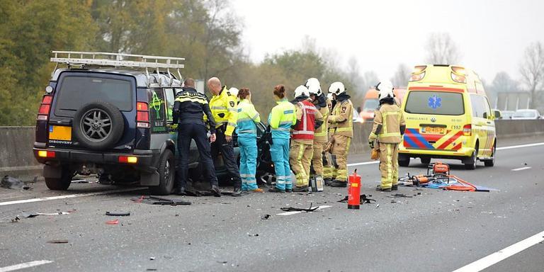 Files op de A28 en N34 richting Groningen door ongeluk.