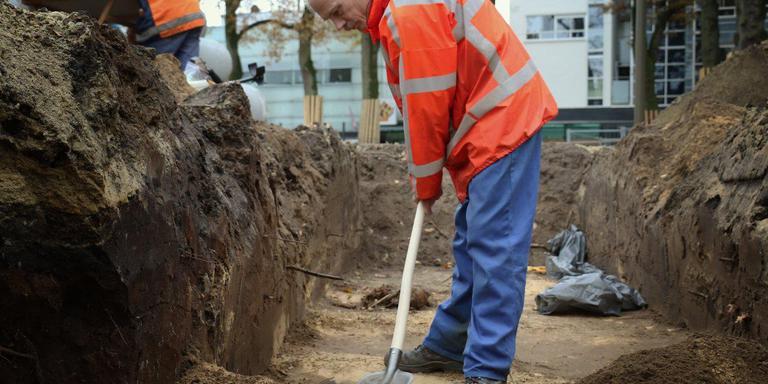 Archeologen aan het werk. Foto: Archief DvhN