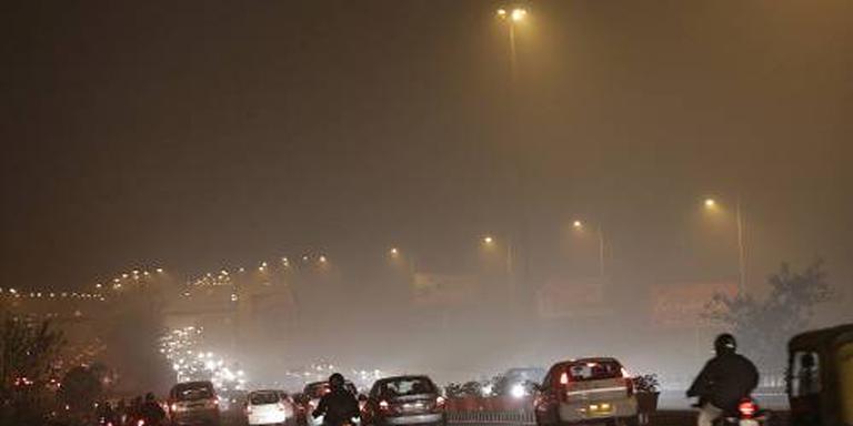 Dikke smog in New Delhi na Diwali