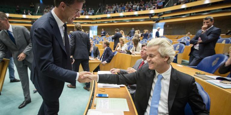 Wilders sluit Rutte uit als regeringspartner