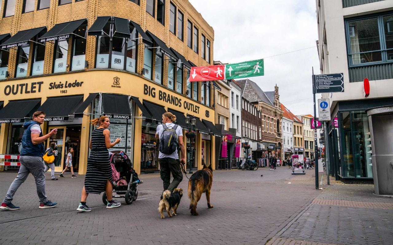 Straatbeeld in Venlo, waar dit weekend veel mensen worden verwacht.