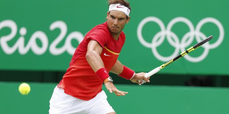 Nadal naar kwartfinale in Rio