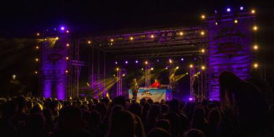 Het eerste Ganzenfestival in Coevorden was afgelopen vrijdag stijf uitverkocht. Naar de optredens van onder meer Tabitha (foto) keken en luisterden 3200 mensen.