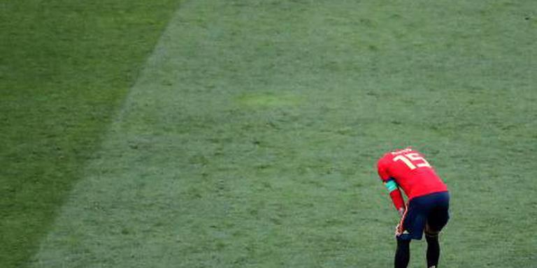 Spanje voor 3e keer bij WK onderuit van stip