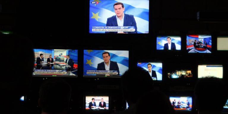 Griekse zenders uit protest op zwart