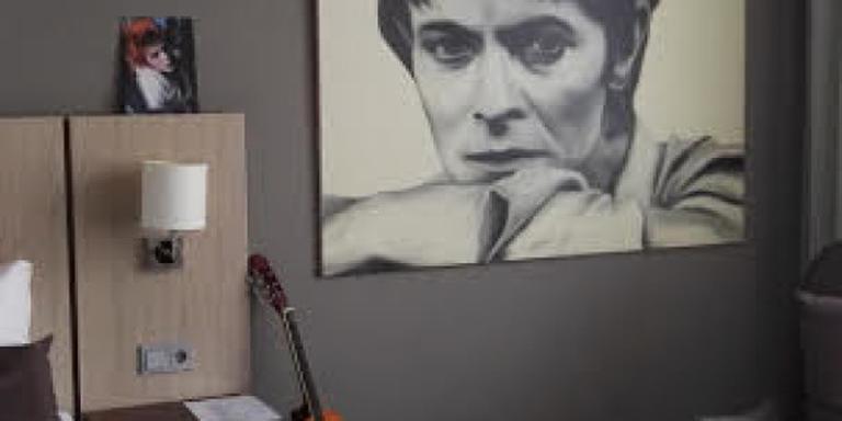 Bowie-kamer in Gronings hotel
