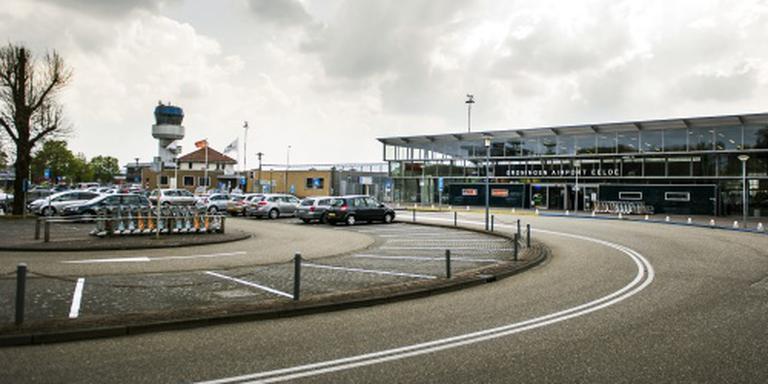 Noodlanding vliegtuigje op Groningen Airport