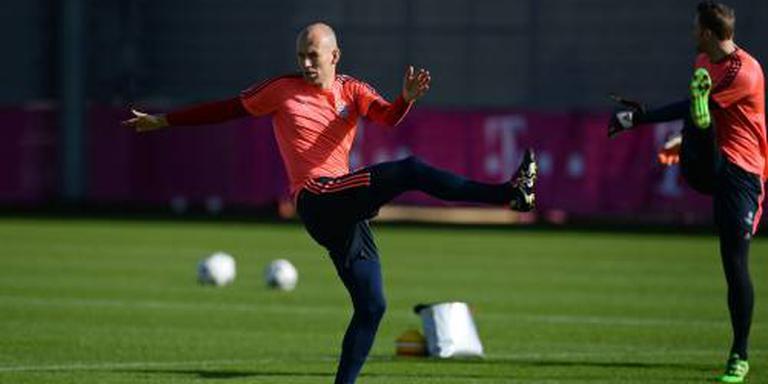 Robben in de basis bij Bayern
