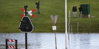 Hoog water in Delfzijl. Foto: ANP Archief / Catrinus van der Veen
