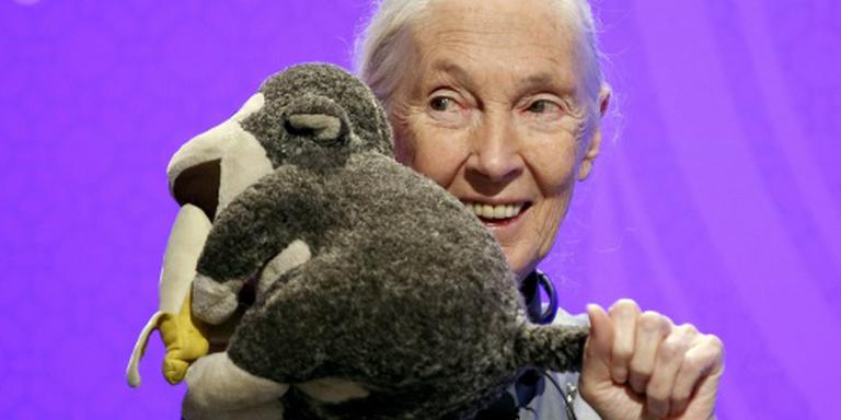 Jane Goodall en Aboutaleb in College Tour