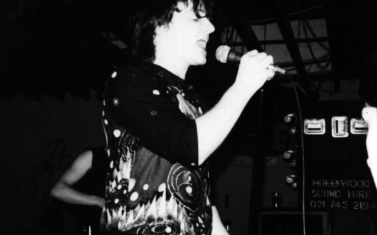Zanger Bono van U2 in 1980.