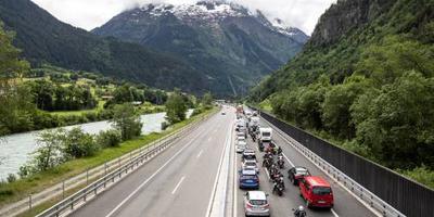 Drukte op Europese wegen door vakantieverkeer