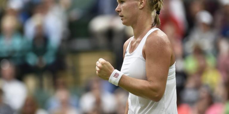 Bertens wel door in dubbelspel Wimbledon