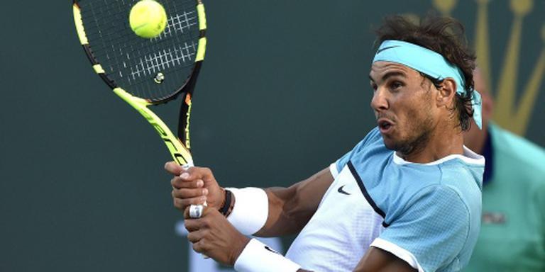 Nadal overleeft matchpoint in Indian Wells