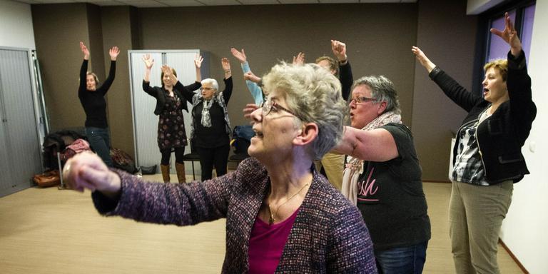 De workshop dansen. FOTO HARRY TIELMAN
