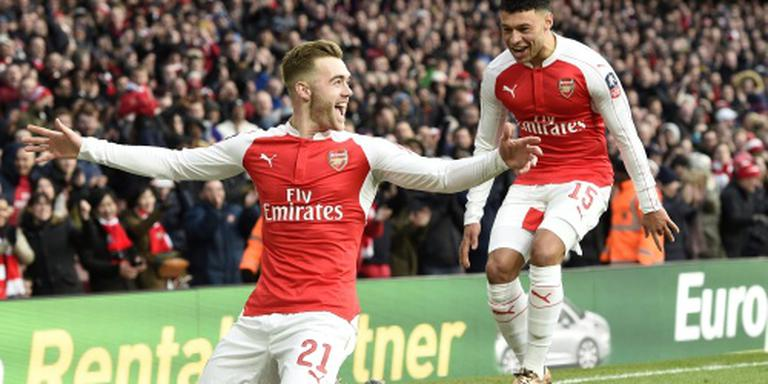 Bekerhouder Arsenal moeizaam langs Burnley