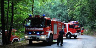Grote Duitse heidebrand vlakbij Nederland