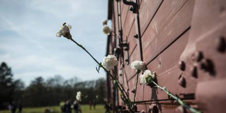 Namen gedeporteerden op installatie Westerbork