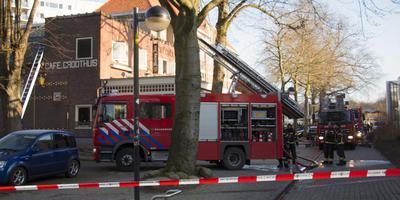 Brand in café Groothuis in Emmen