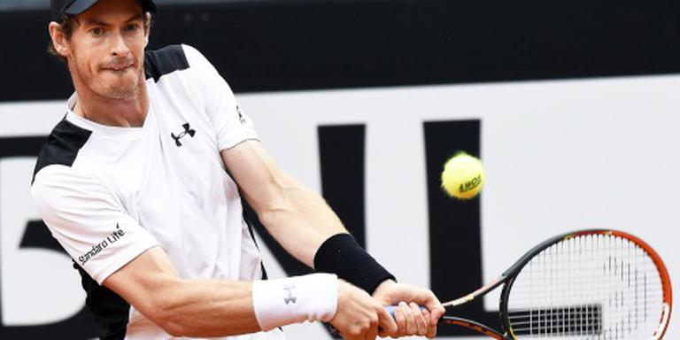 Murray eerste finalist in Rome