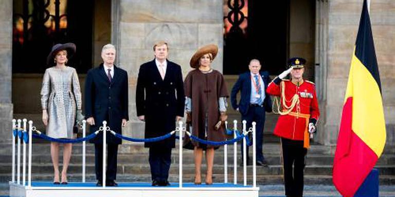Belgisch koningspaar ontvangen in Amsterdam