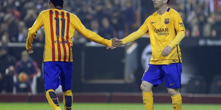 Barcelona rekent op Messi en Neymar