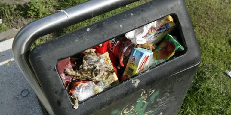 Felgroene afvalbakken leveren meer vuil op