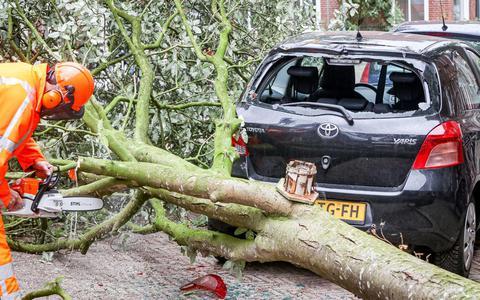 Veel overlast door harde wind in Drenthe en Groningen