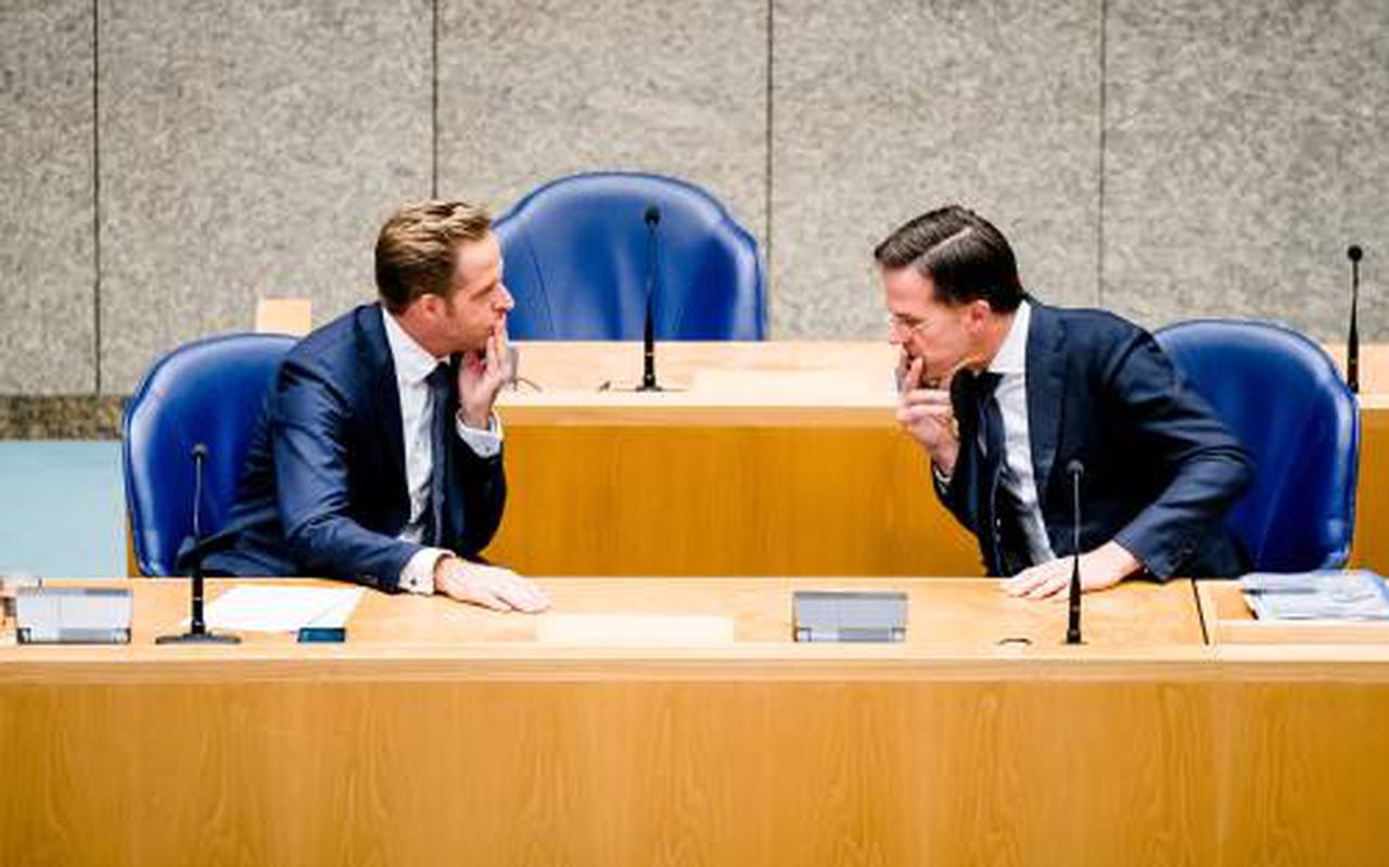 Hugo de Jonge en Mark Rutte.
