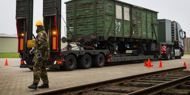 Drie oorlogswagons Westerbork naar Nederland