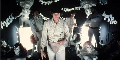 Malcolm McDowell in A Clockwork orange.