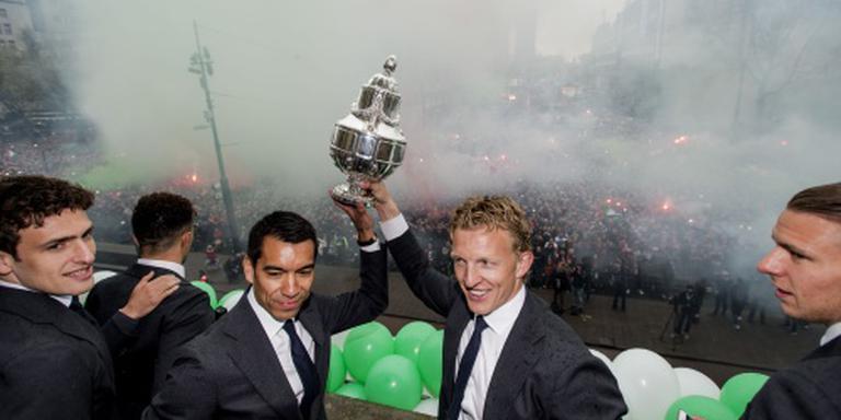 Bekerwinnaar Feyenoord gehuldigd in Rotterdam