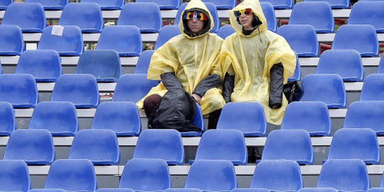 Tennisfinales Boekarest door regen op maandag