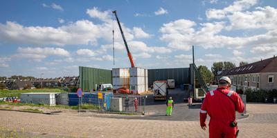 De boorput op Molenslag in het Zuid-Hollandse Monster. Foto: Archief AD / Thierry Schut