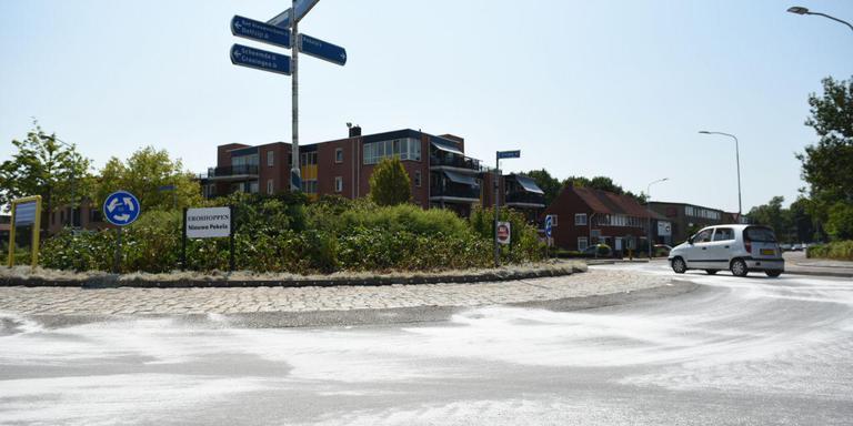Zout op de wegen in Winschoten. Foto: de Vries Media