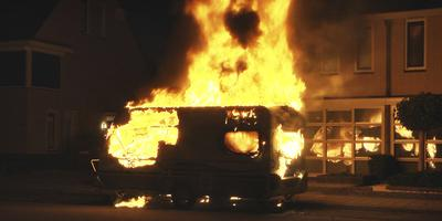 Brandstichting in Hoogeveen. Foto Persbureau Meter