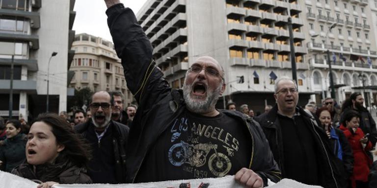 Grieken protesteren tegen pensioenhervorming
