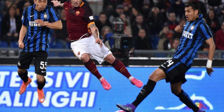 Topper tussen AS Roma en Inter onbeslist