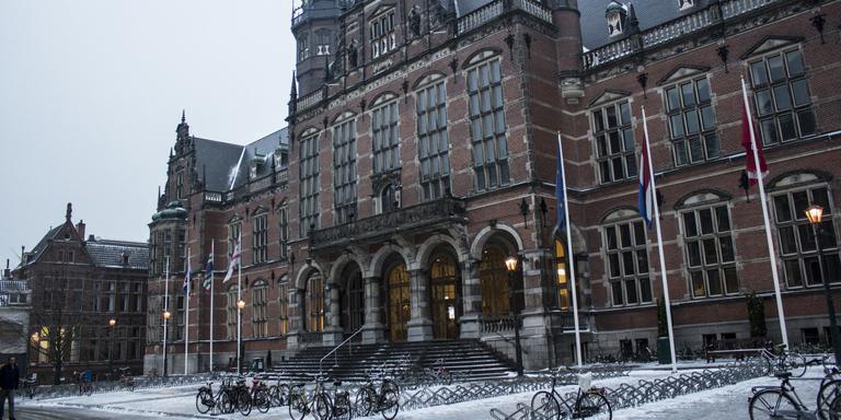De Rijksuniversiteit Groningen in de kou