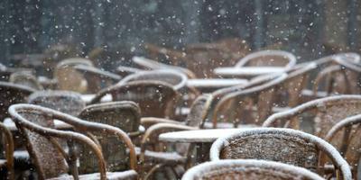 Eerste natte sneeuwvlokken gevallen