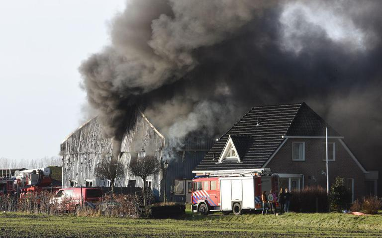 Grote schuurbrand in Appingedam