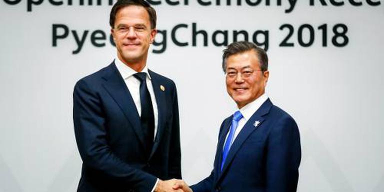 Rutte spreekt Zuid-Koreaanse president Moon