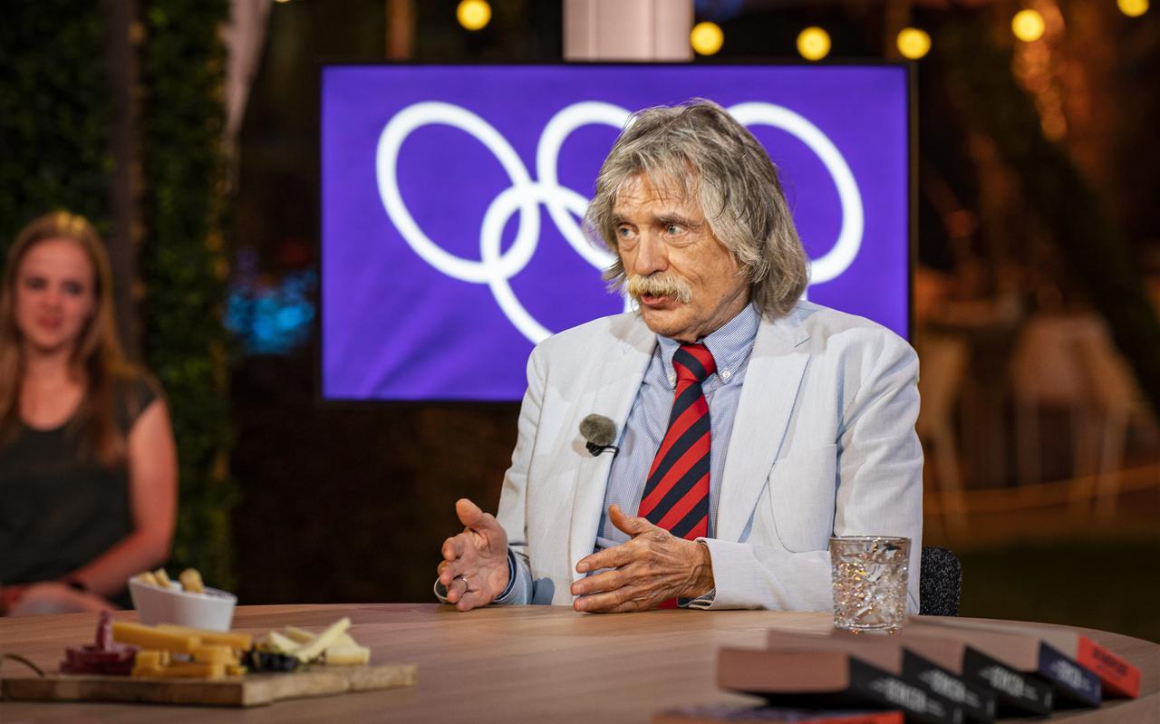 Johan Derksen aan tafel van het Talpa-programma De Oranjezomer op SBS6. Foto: ANP