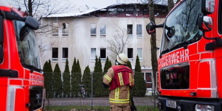 Gewonden door brand in asielzoekerscentrum