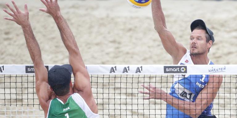 Goed begin voor beachvolleyballers in Moskou