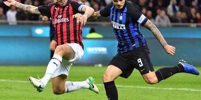 Icardi schiet Inter naar zege in stadsderby