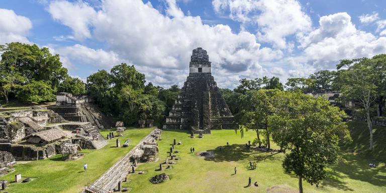 De Tempel van de Grote Jaguar in Tikal.