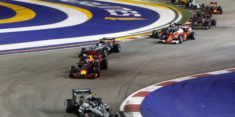 Verstappen zesde in Singapore, Rosberg wint